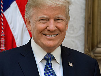 Trump's visit.