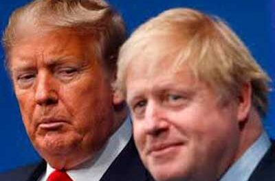 MORE ON COVID-19  – TRUMP VERSUS JOHNSON: two silly big boys who ought to know better.