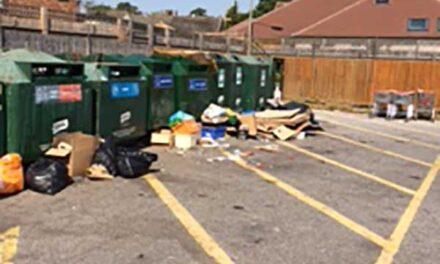 Pig-ignorant locals are trashing the car park