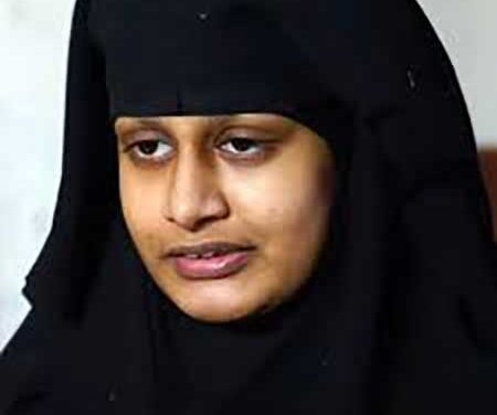 Shamima Begum is British-made and should be allowed back.